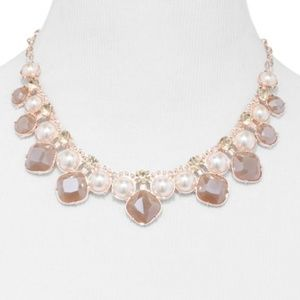 Rose Goldtone Faux-Pearl Necklace